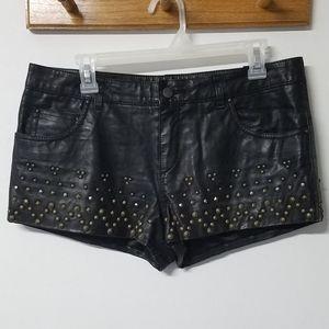 🖤 Free People vegan leather stud shorts women's 8